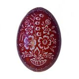 Easter egg. Hand painted easter egg on the white background Royalty Free Stock Images