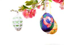 Easter egg hanging Stock Photography