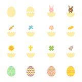 Easter egg hatch icons set illustration colorful Stock Photo