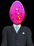 Easter Egg Head. Businessmans body with an Easter egg in place of the head Stock Images