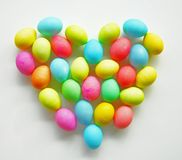 Easter egg Heart Stock Images