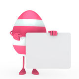 Easter egg hold billboard Stock Images