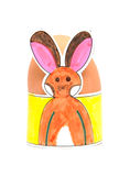 Easter egg holder made by children Stock Photos