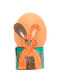 Easter egg holder made by children Stock Image