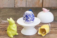 easter egg in holder Royalty Free Stock Photo