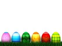 Easter Egg Hunt. 6 digital Easter eggs isolated on white Stock Image