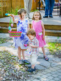 Easter Egg Hunt Activity Stock Image