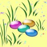 Easter egg hunt art Stock Image