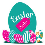 Easter egg hunt background flat design EPS 10 vector Royalty Free Stock Photo