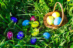Easter egg hunt Stock Photography