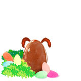 Easter egg hunt. Easter egg with bunny`s ears Royalty Free Stock Photos