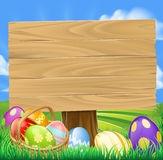Easter Egg Hunt Cartoon Royalty Free Stock Photo