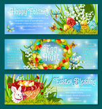 Easter Egg Hunt celebration banner template set Stock Images