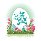 Easter egg hunt design EPS 10 vector Royalty Free Stock Photo