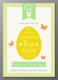 Easter Egg hunt flyer Royalty Free Stock Images