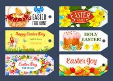 Easter Egg Hunt gift tag and label set design Stock Photo
