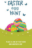 An easter egg hunt graphic vector illustration