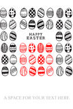 An easter egg hunt graphic. A easter egg hunt graphic Stock Photos