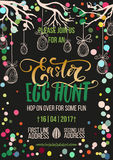 Easter Egg Hunt holiday,  Easter poster template Stock Image