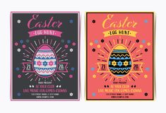 Easter egg hunt invitation template. royalty free stock photography