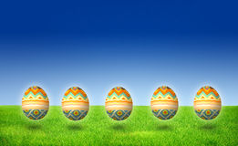 Easter Egg Hunt isolated Royalty Free Stock Image