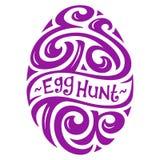 Easter Egg Hunt Lettering Royalty Free Stock Images