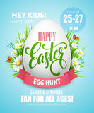 Easter Egg Hunt  poster. Vector illustration Stock Image