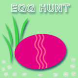 Easter egg hunt sign Stock Photo