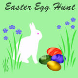 Easter egg hunt sign Royalty Free Stock Image