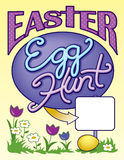 Easter Egg Hunt Sign Page Layout Royalty Free Stock Photo