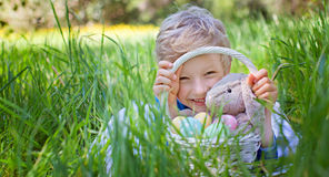 After easter egg hunt Royalty Free Stock Images