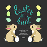 Easter Egg Hunt  Template Poster Stock Image