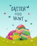Easter egg hunt vector Stock Image