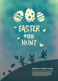 Easter egg hunt vector Royalty Free Stock Photography