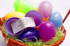 Easter egg hunt,winner Stock Photography