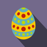 Easter egg icon, flat style Royalty Free Stock Images