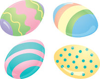 Easter Egg Icons Royalty Free Stock Photo