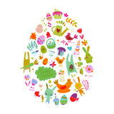 Easter egg, icons collection for your design Stock Image