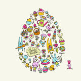 Easter egg, icons collection for your design Stock Photography
