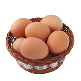 Easter Egg In Basket Stock Image