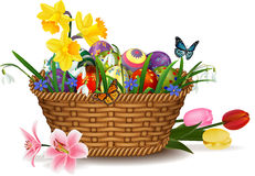 Free Easter Egg In Basket Royalty Free Stock Images - 90768729