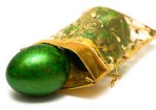 Easter Egg In Sack Stock Photos