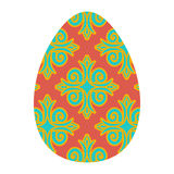 Easter egg isolated. Traditional decoration food for religion ho Royalty Free Stock Images
