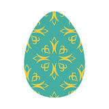 Easter egg isolated. Traditional decoration food for religion ho Royalty Free Stock Photography