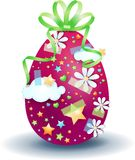 Easter egg isolated on white background Royalty Free Stock Photography