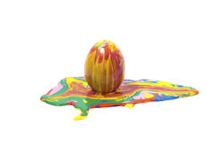 Easter egg. With isolated white backgrounds Royalty Free Stock Images