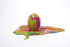 Easter egg. With isolated white backgrounds Royalty Free Stock Photo