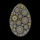Easter Egg jewelry ornament design. Made from silver and golden seed beads. Luxury jewelry symbol design Stock Photo