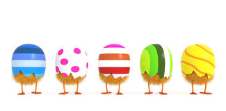 Easter egg - Just the born chicken. Easter egg - isolated on white Royalty Free Stock Image