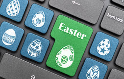 Easter egg key on keyboard Royalty Free Stock Image